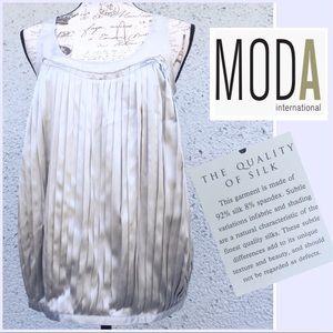 "NWT Moda Intetnational Silk ""Metallic"" Blouse"